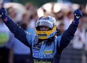 japan f1 race result schumacher engine blows alonso wins.-103102