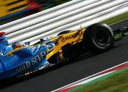 japan f1 race result schumacher engine blows alonso wins.-103099