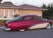 1951 mercury coupe - scarlet and cream-124991