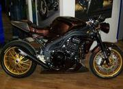 81.triumph speed triple brown racer se
