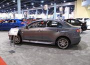 mitsubishi shows off the evo mr touring at the 2009 south florida international auto show-329483