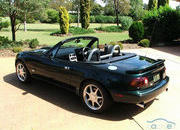 mazda mx-5 bullet roadster lives and breathes its v8 engine-407635