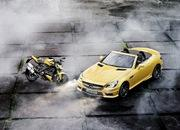 mercedes slk 55 amg streetfighter yellow-428528
