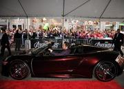 video robert downey jr. attends avengers premiere in an acura nsx roadster-449501