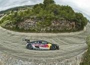 video red bull audi r8 lms racing around abandoned racetrack in spain 6