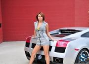 ashley models with a lamborghini gallardo and bmw m3 sport pack-474612