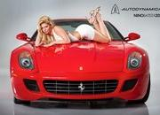 caitlin hixx flirts with a ferrari 599 and an f430 scuderia spyder 16m-478563